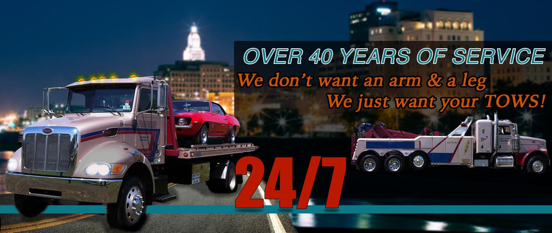 Tow Trucks, Towing, Hauling: Baton Rouge, Port Allen, LA